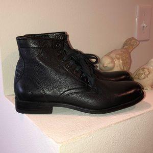 Frye Combat Black Leather Combat Boots  9M